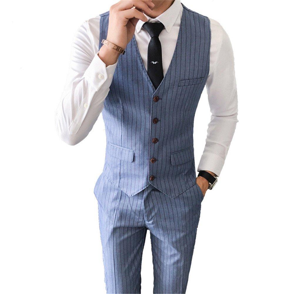 Männer im Anzug - Weste, die den Streifen Weste, selbst gebildete Junge im Anzug, Weste,Auf jeden Fall, das,L