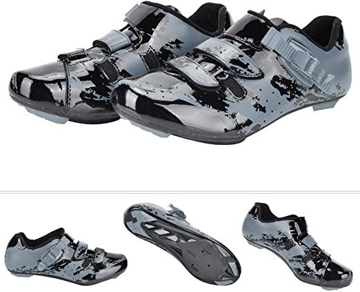 Alomejor Zapatillas de Ciclismo de montaña Zapatos Micro Ajustable Bicicleta Spinning Road Bike Shoe (39-Negro Gris): Amazon.es: Deportes y aire libre