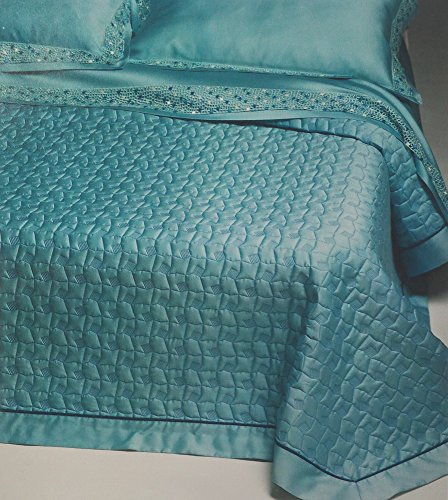double-bed-linen-set-trussardi-turquoise-web-acqua-270x290cm-pure-cotton-satin