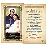 St. Cammilus of Lellis Laminated Holy Card - Pack of 10