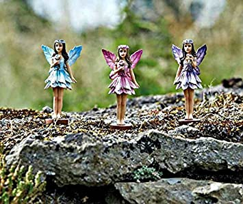 Genial Homezone® Enchanted Miniature Fairy Figurines Fairy Garden Ornaments Pixie  Woodland Elves Forrest Fairies Tree Decoration