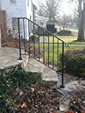 iron stair railing - DIY Iron X Handrail Picket #3 Fits 3 or 4 Steps