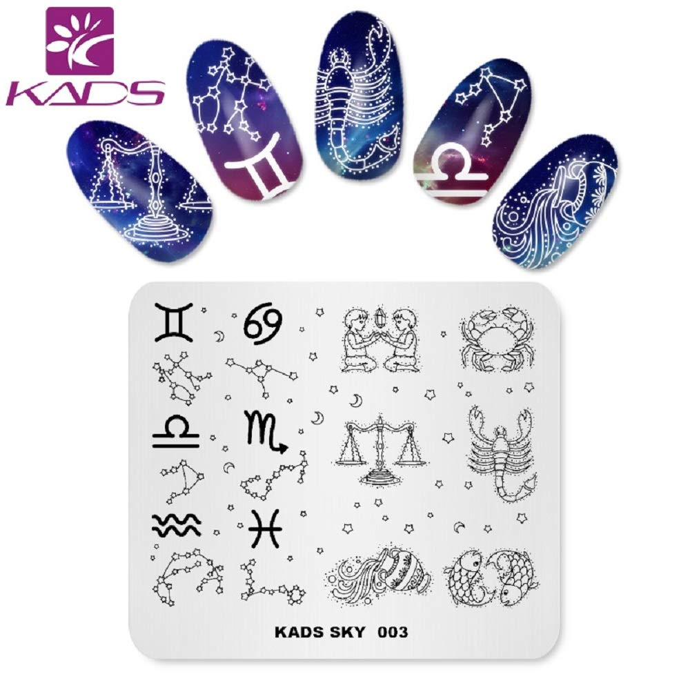 KADS Nail Stamping Plate Sky ConstellationTemplate for Nail Art Image Design Plates Decoration and DIY Tool (SK003)