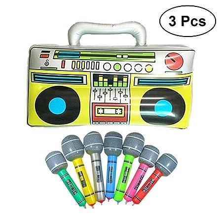 Sky-Grow Radio Musical Inflable 16 Pulgadas + 2 Instrumentos ...