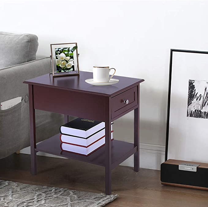 Groovy Amazon Com Narrow Slim End Tables With Drawers Shelf Sofa Alphanode Cool Chair Designs And Ideas Alphanodeonline