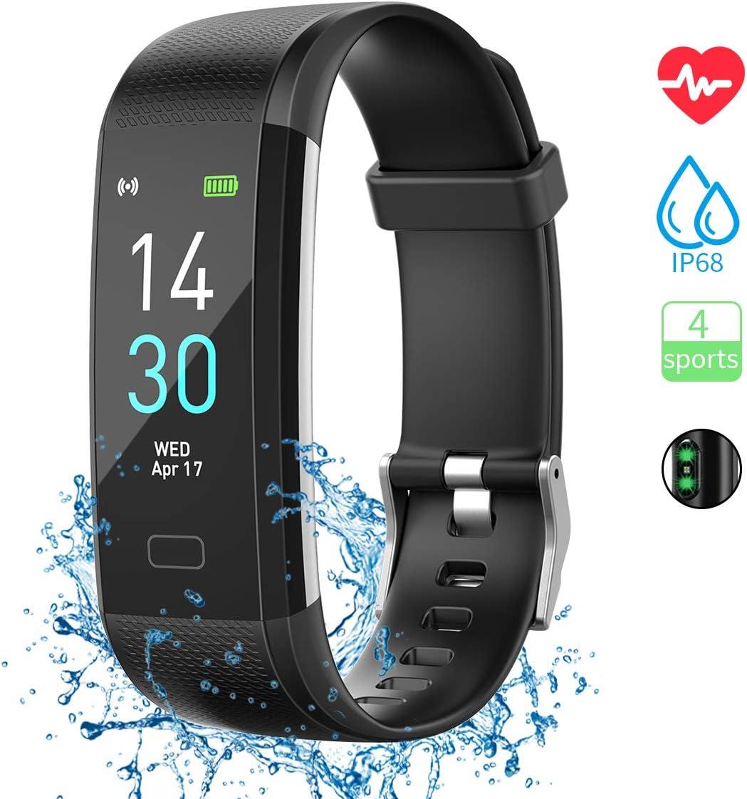 Pulsera de Actividad, Inteligente Reloj Deportivo, IP68 para Hombre Mujer con GPS Monitor de Sueño Podómetro Contador Notificación Para iPhone Huawei Xiaomi Android