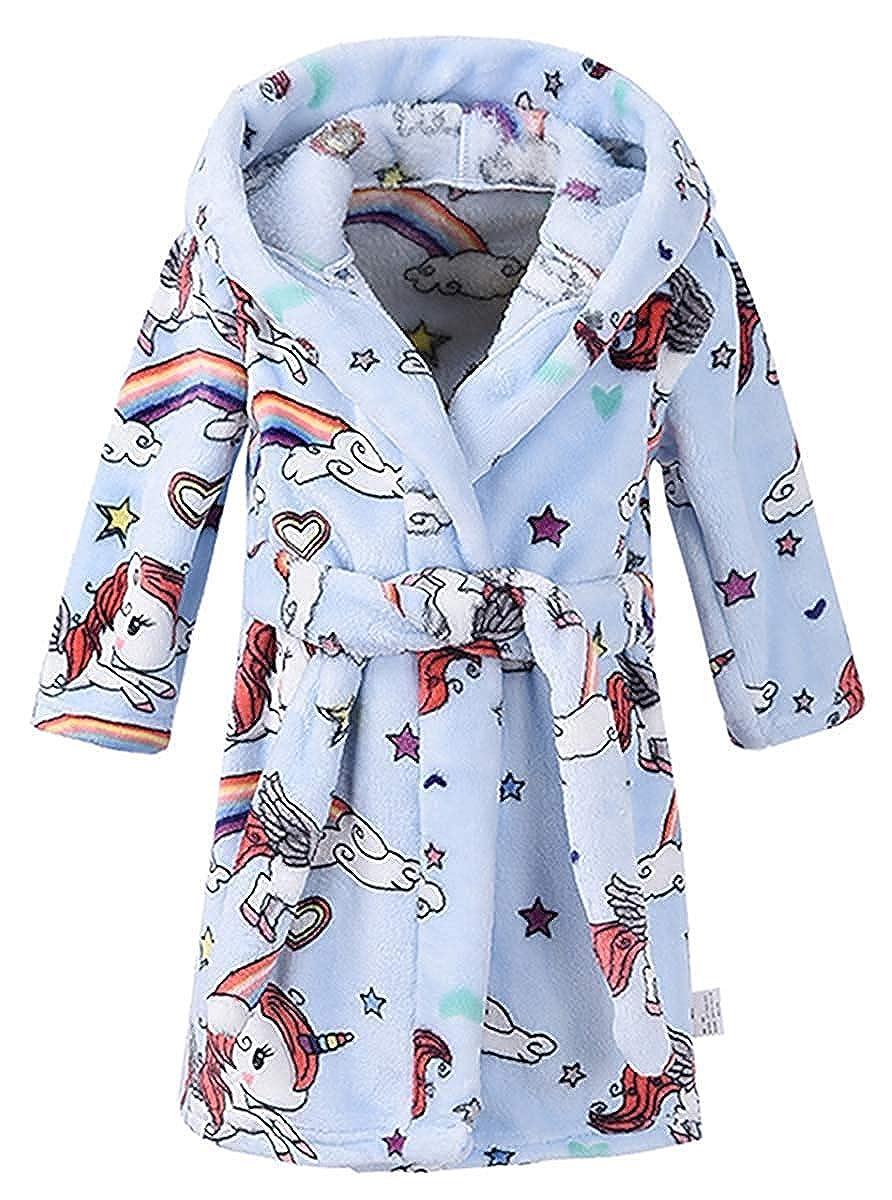 Ameyda Kids /& Adult Soft Flannel Bathrobes 1 Year Adult XL