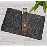 "Indoor Doormat Mud Absorbent Trap 18""x 28"" Entryway Rug Non Slip Door Mat for Front Door Inside Small Floor Dirt Trapper Superior Absorbing Cotton Entrance Rug Shoes Scraper Machine Washable Carpet"