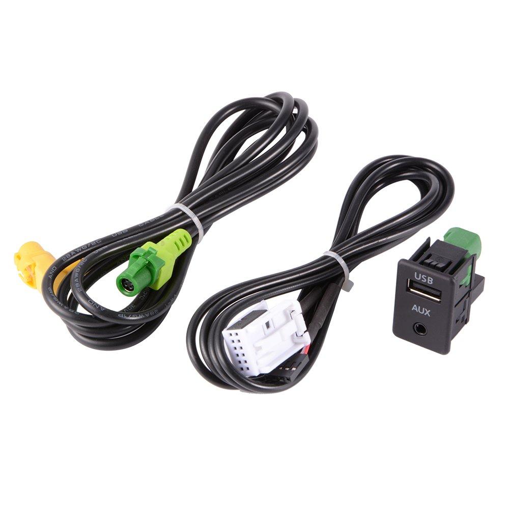 XCSOURCE Commutateur Aux USB + Fil Câ ble Adaptateur pour BMW 3 5 Series E87 E90 E91 E92 X5 X6 AC516