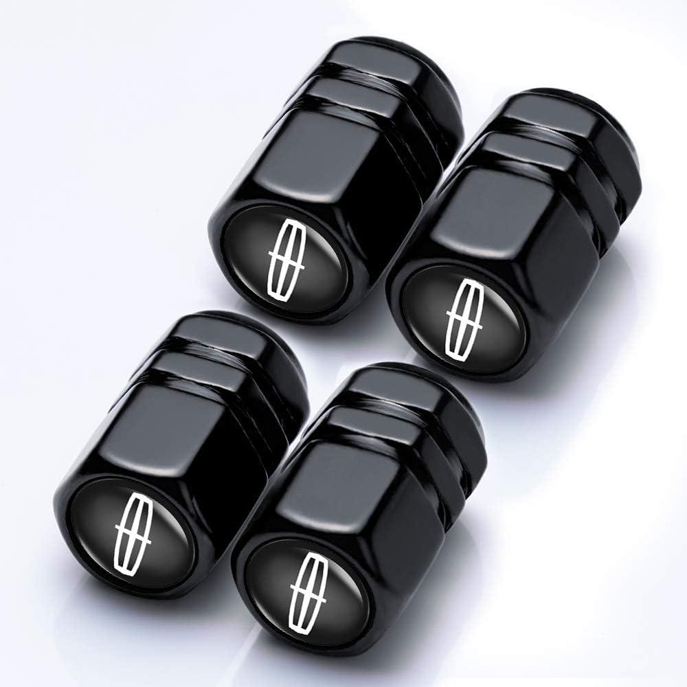 Goshion 4 Pcs Metal Car Wheel Tire Valve Stem Caps for Lincoln Navigator TownCar Continental MKZ MKX MKC Styling Decoration Accessories