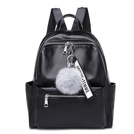 41036cadb7f6 PU Zaino in pelle donne zaino nero solido moda scuola di sacchi per Teenager  ragazze