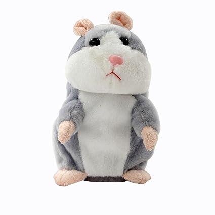 Adorable ratón de peluche de Cinnamou, juguete de peluche gris ...