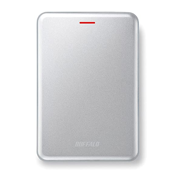 BUFFALO 高速・薄型 USB3.1(Gen2) ポータブルSSD 480GB シルバー SSD-PUS480U3-S
