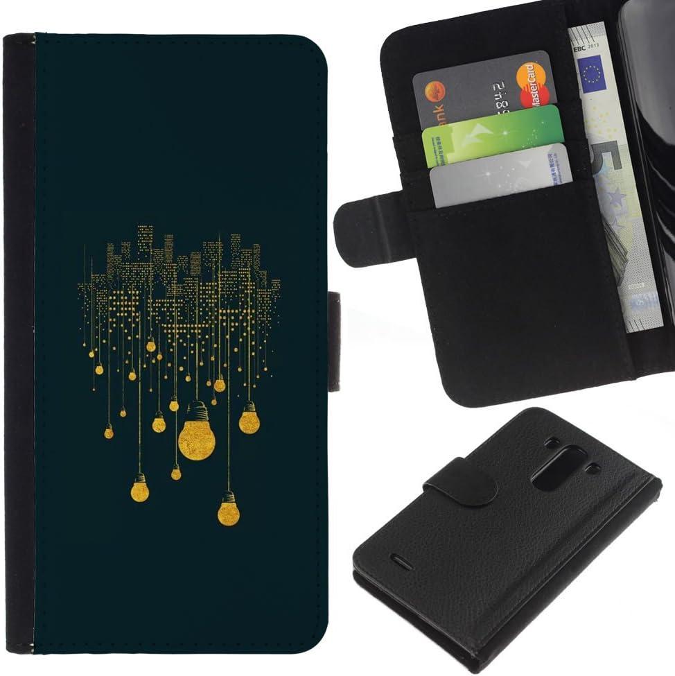 JackGot (Winter Night City Yellow Significado)  LG G3 la tarjeta de Crédito Slots PU Funda de cuero Monedero caso cubierta de piel: Amazon.es: Electrónica