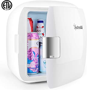 AstroAI 9 Liter Mini Fridge Compact Portable Cooler and Warmer for Food, Beverages, Skincare, Breast Milk, Office Desk, and Road Trips Travel