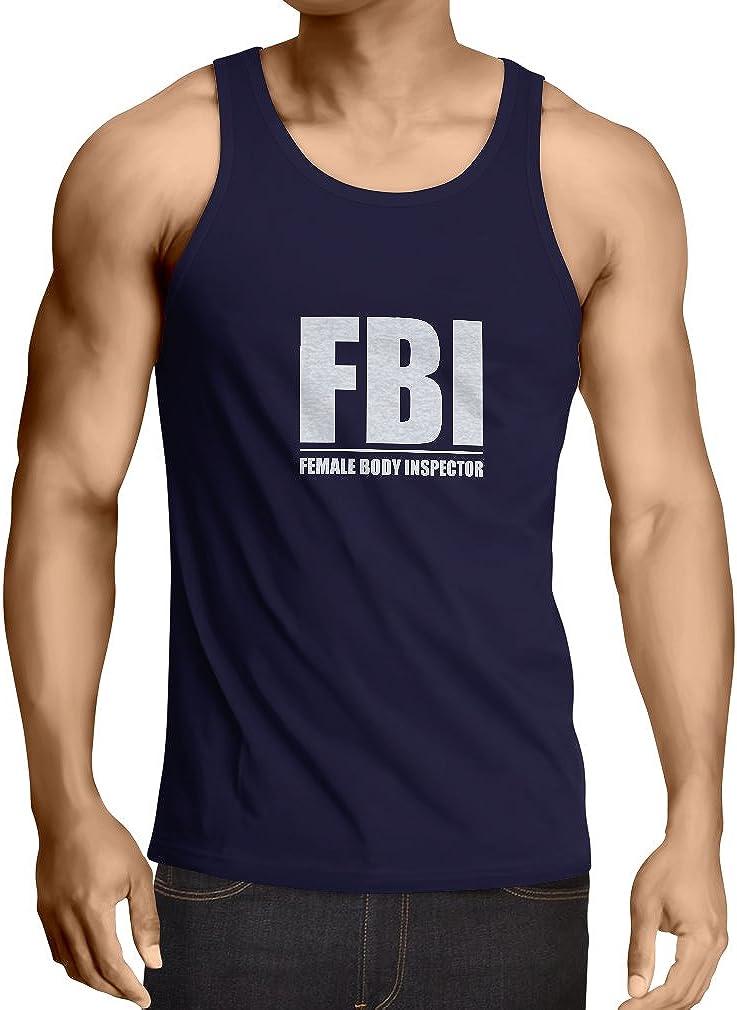Citas humor/ísticas Regalos Divertidos para Hombres lepni.me Camisetas de Tirantes para Hombre FBI Inspector del Cuerpo Femenino