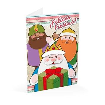 Fotos Papa Noel Reyes Magos.Erik Magos Postal Navidad Reyes Papa Noel Con Sobre 300 Gr