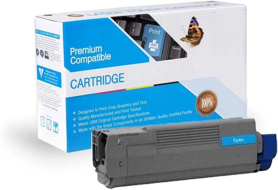 C8800DN Print.After.Print Compatible Toner Replacement for Oki-Okidata 43487735 Cyan C8800N Works with: C8800 C8800DTN