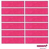 12 Sweatbands Cotton Sports Headbands Terry Cloth Moisture Wicking Athletic Basketball Headband by Kenz Laurenz (12 Pack) (Hot Pink 12 Pack)