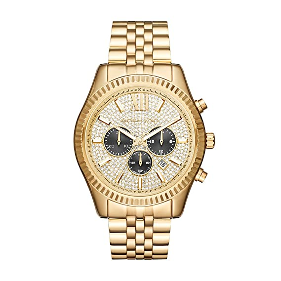 c19c9c57fadc Michael Kors Men s Lexington Gold-Tone Watch MK8494  Amazon.ca  Watches
