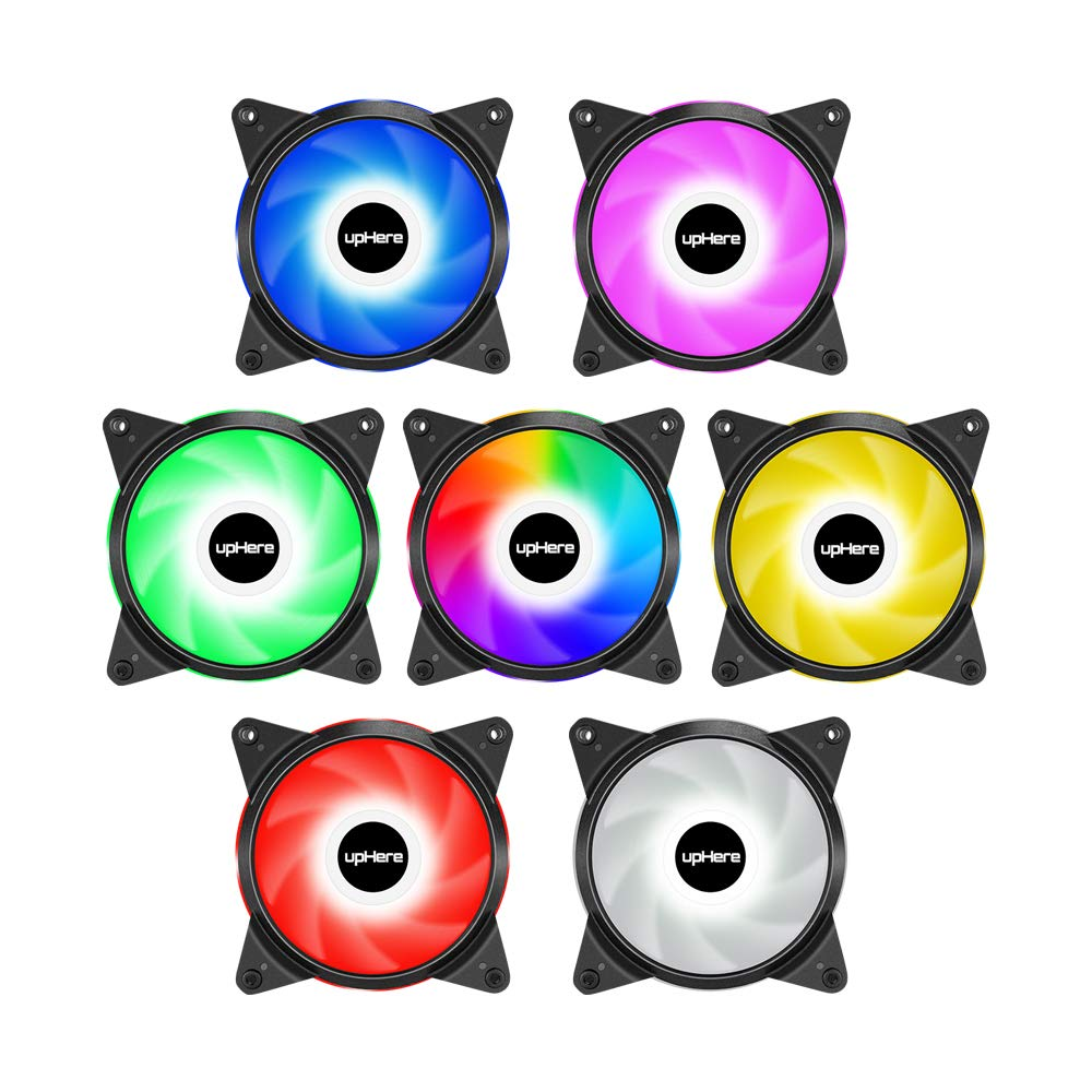upHere 6-Pack 120mm Silent Intelligent Control Addressable RGB Fan Adjustable Colorful Fans with Controller and Remote,T6C63-6 by upHere (Image #3)