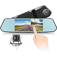 Chyu 1080p Dual Lens Car Dash Cam with Parking Monitor G-Sensor Loop Recording