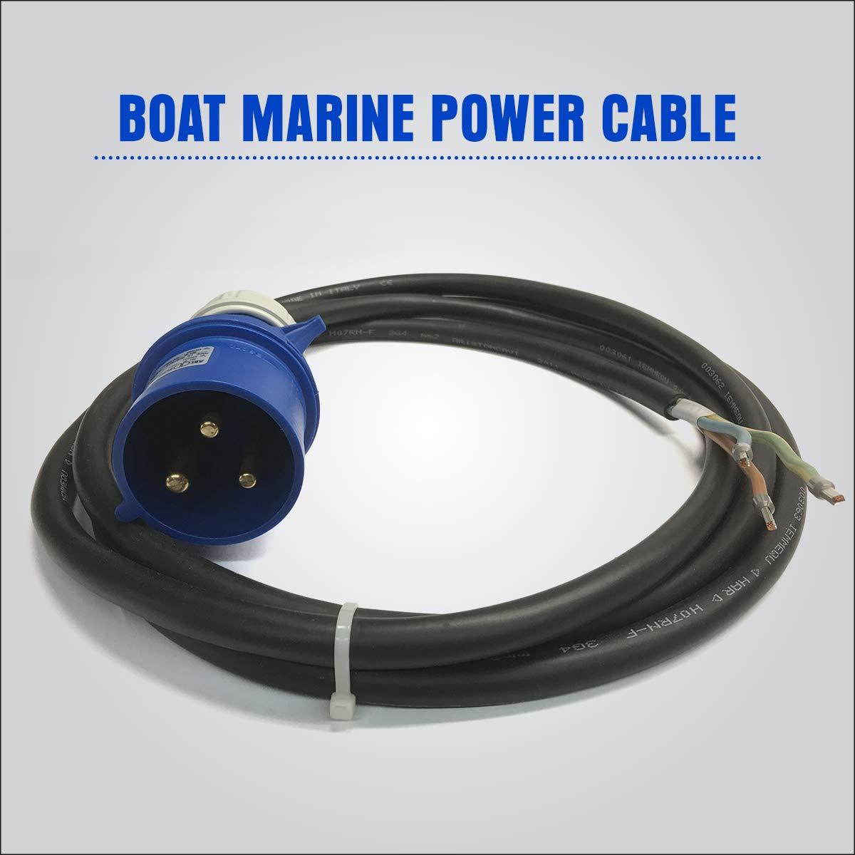 ABL Sursum S32S20A Plug M boat marine 30A 250V Power Wire Cable Cord