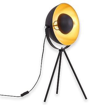 Briloner Leuchten Tischlampe Dreibein Tripod Tischlampe Metall