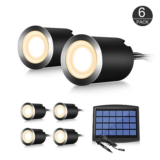 Luz Foco Solar Empotrable al Suelo – CroLED Iluminación Exteriores Luz de Tierra Aluminio 0.6W