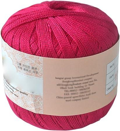 Ovillo de hilo de algodón mercerizado de Display08: Amazon.es: Hogar