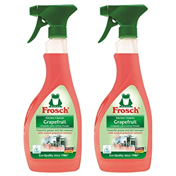 Frosch Natural Grapefruit Multi Surface Kitchen Cleaner Spray, 500ml (Pack  Of 2)