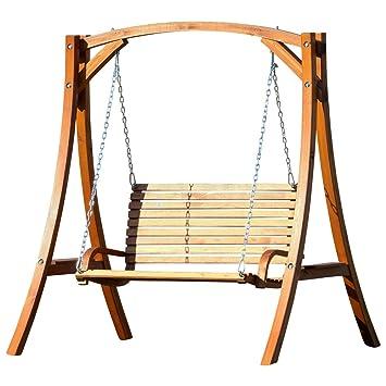 ASS KUREDO-OD Balancelle de jardin 2 places en bois: Amazon.fr: Jardin