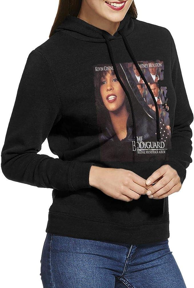 KennedyF Womens Whitney Houston The Bodyguard Hoodies Sweatshirt Black