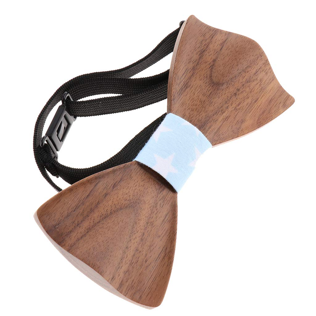 M119-049 Fityle Wood Bow Tie for Men Women Classic Wooden Bowties Neckwear Mens Excellent Decoration for Suit
