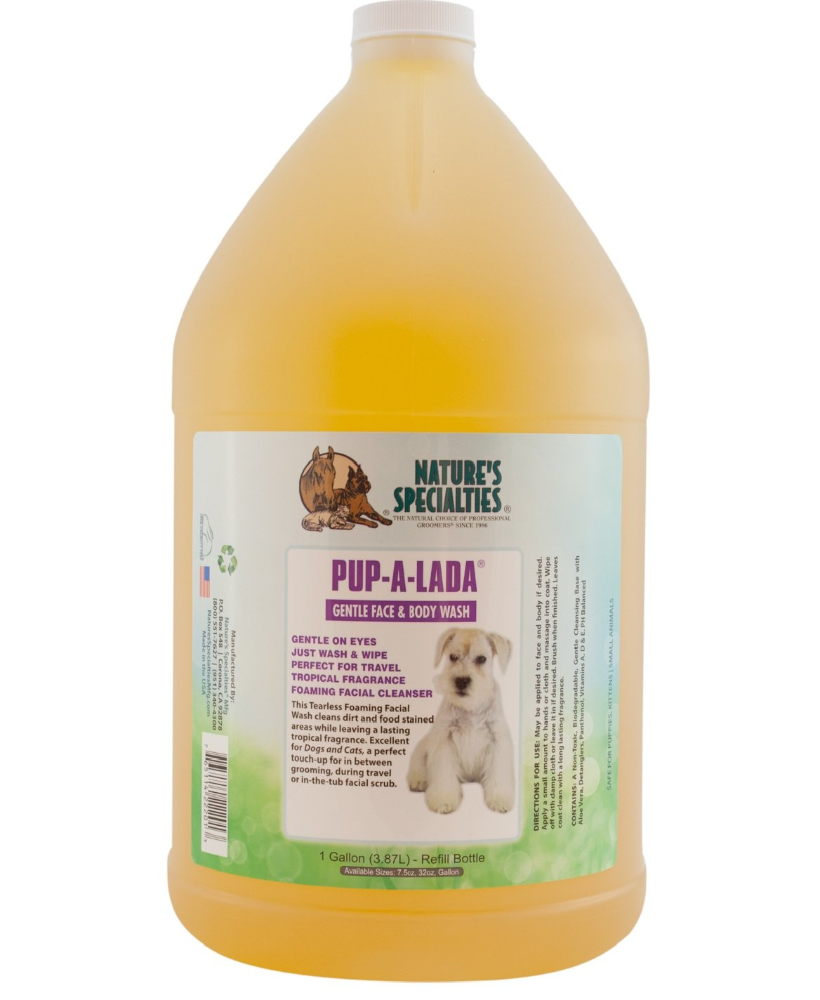 Nature's Specialties Pup-A-Lada Foaming Facial Wash for Pets by Nature's Specialties Mfg