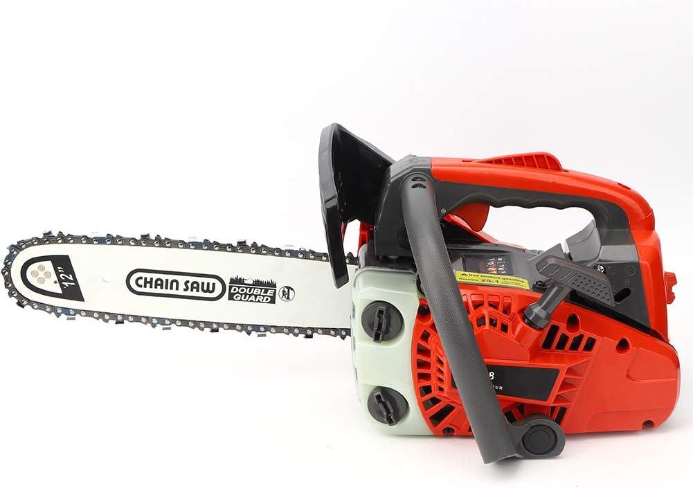 【𝐑𝐞𝐠𝐚𝐥𝐨 𝐝𝐞 𝐍𝐚𝒗𝐢𝐝𝐚𝐝】 Sierra de cadena inalámbrica ordless de 12 pulgadas, sierra de registro de gasolina de una mano de 25 cc, sierra de cadena pequeña de arranque fácil para cortar made