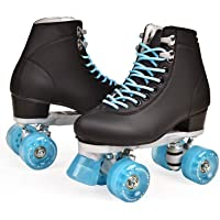Forfor Girls Boys Kids Outdoor Withstand 220 Lb Indoor and Rink Skating ZZAINIO Roller Skates,Women Flash Skates Four-Wheel Roller Skates Fun Shiny Roller Skates