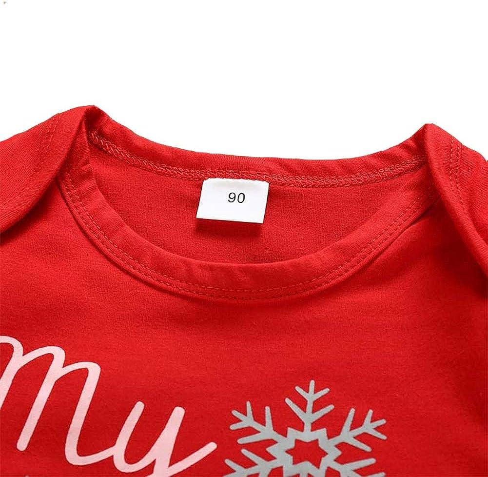 Weihnachten Neugeborene Jungen Jungen M/ädchen Kleidung 3 St/ück Outfits Strampler Hut Hosen Weihnachtsbaum Rot gestreift Plaid Rentier-Sets Sfuzwg Meine 1