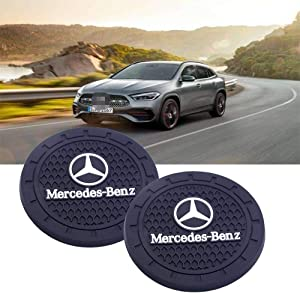 SHENGYAWAUTO Car Interior Accessories Cup Holder,Anti Slip Cup Mat Insert for Benz All Models 2 Packs,2.75 inch