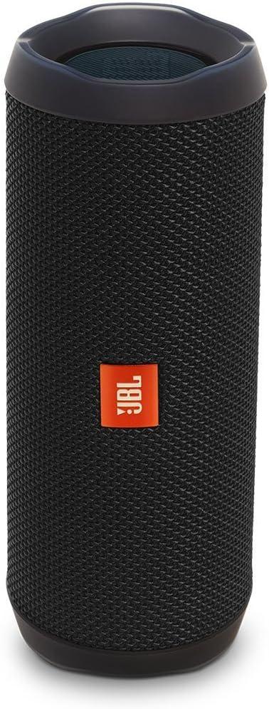 JBL Flip 4 Waterproof Portable Rechargeable Bluetooth Wireless Speaker with Echo Cancelling Speakerphone, Black Renewed