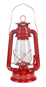 Stansport Small Hurricane Lantern (Red)