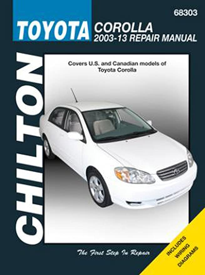 Amazon.com: Toyota Corolla Chilton Repair Manual (2003-2013): Automotive