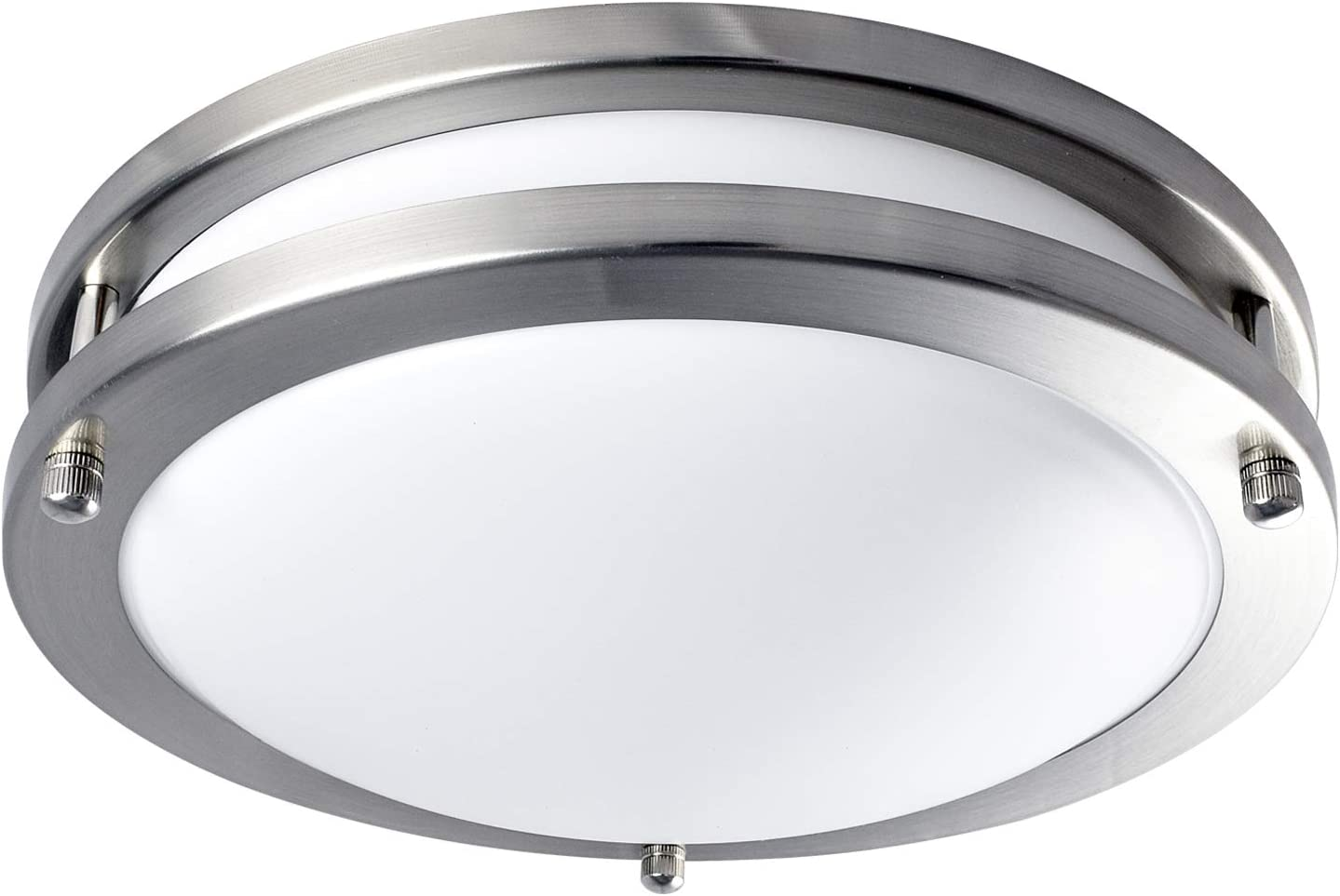 Luxrite LED Flush Mount Ceiling Light, 10 Inch, Dimmable, 3000K Soft White, 1000 Lumens, 14W Ceiling Light Fixture, Energy Star & ETL - Perfect for Kitchen, Bathroom, Entryway, and Closet