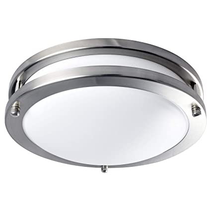 timeless design dee16 88e09 Luxrite LED Flush Mount Ceiling Light, 10 Inch, Dimmable, 5000K Bright  White, 1000 Lumens, 14W Ceiling Light Fixture, Energy Star & ETL - Perfect  for ...