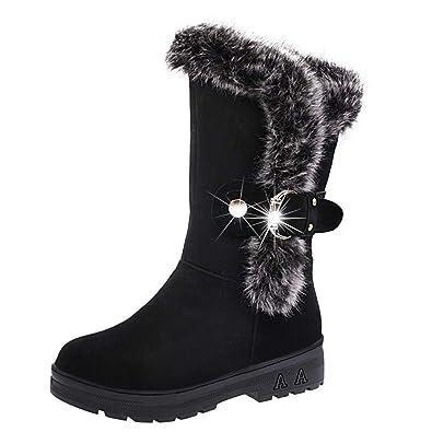 Botas Casual Plataforma Botas de Nieve Moda Otoño Invierno Zapatos Botas de Mujer de Planos Tacon Botines de Tobillo Mujer Martín Botas Tacón Alto Cuadrado ...