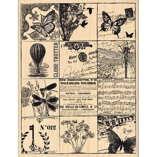 Nostalgisches Design Florilèges FH114052 Stempel Scrapbooking, eckig, Beige, 13 x 10 x 2,5 cm