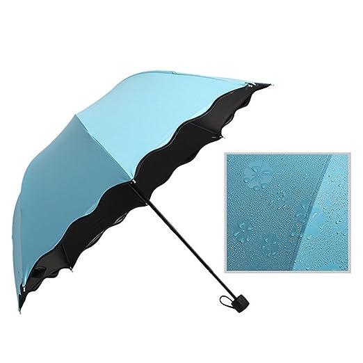 Windproof Folding Anti Uv Magic Parasol Windproof Watermark Blossom