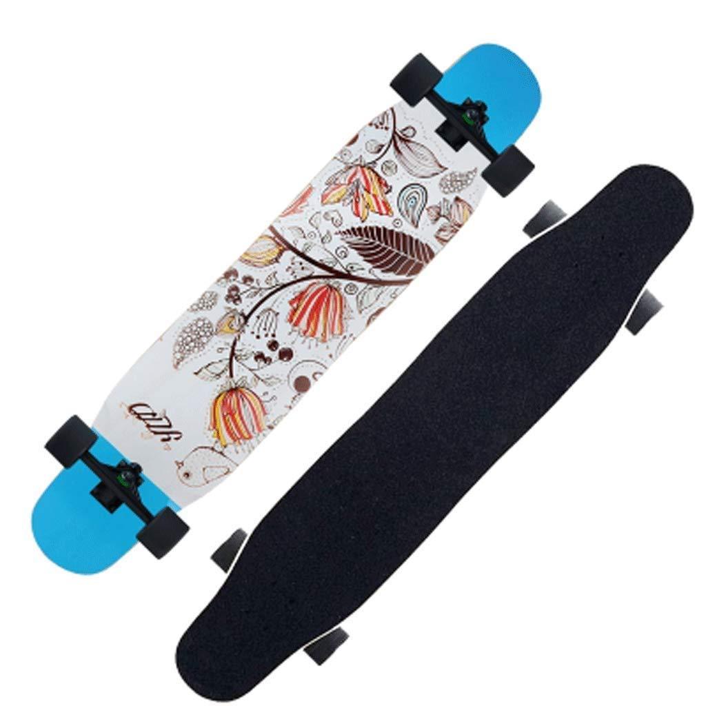 GJF Long Board Road Skateboard de Arce de Cuatro Ruedas Adulto Chicas Chicos Habilidades Dance Board Street Skateboard Principiantes