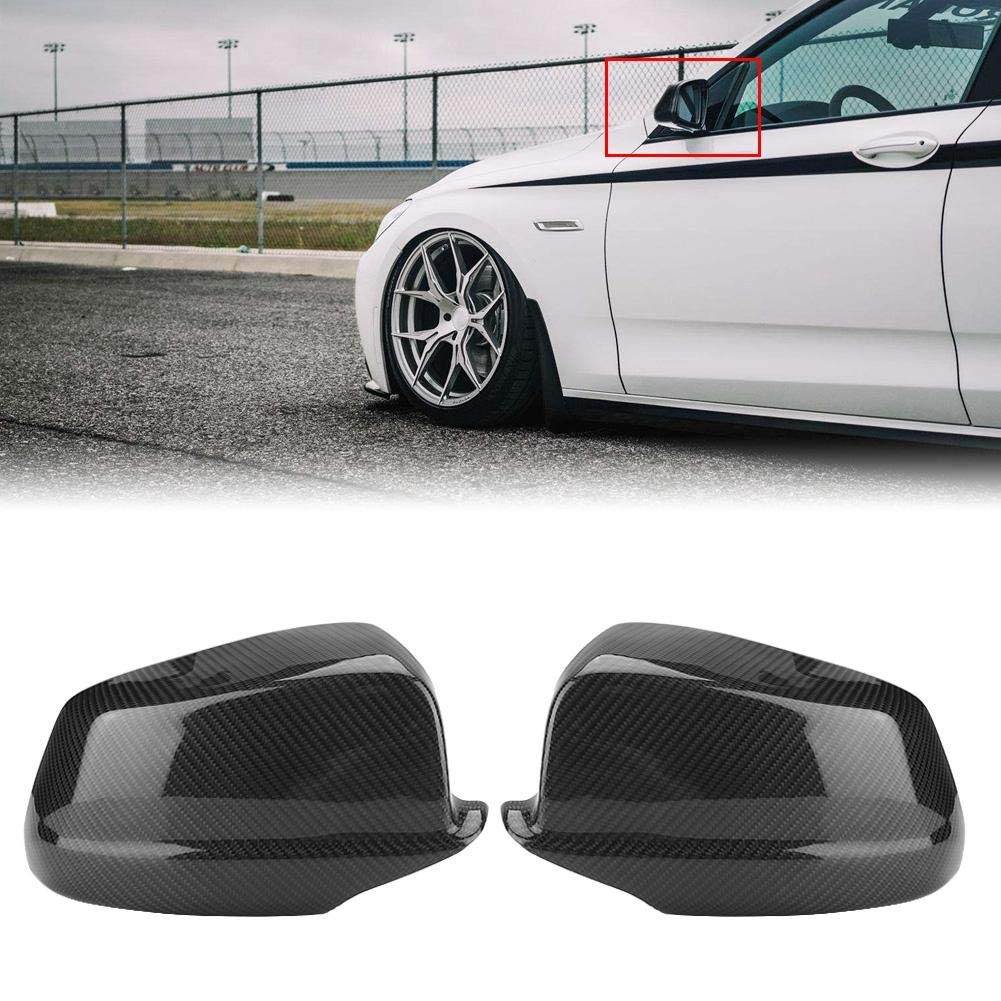 KIMISS 1 Pair of Carbon Fiber Rear View Mirror Cover for BMW 5 Series F10/F11/F18 Pre-LCI 11-13 by KIMISS (Image #4)