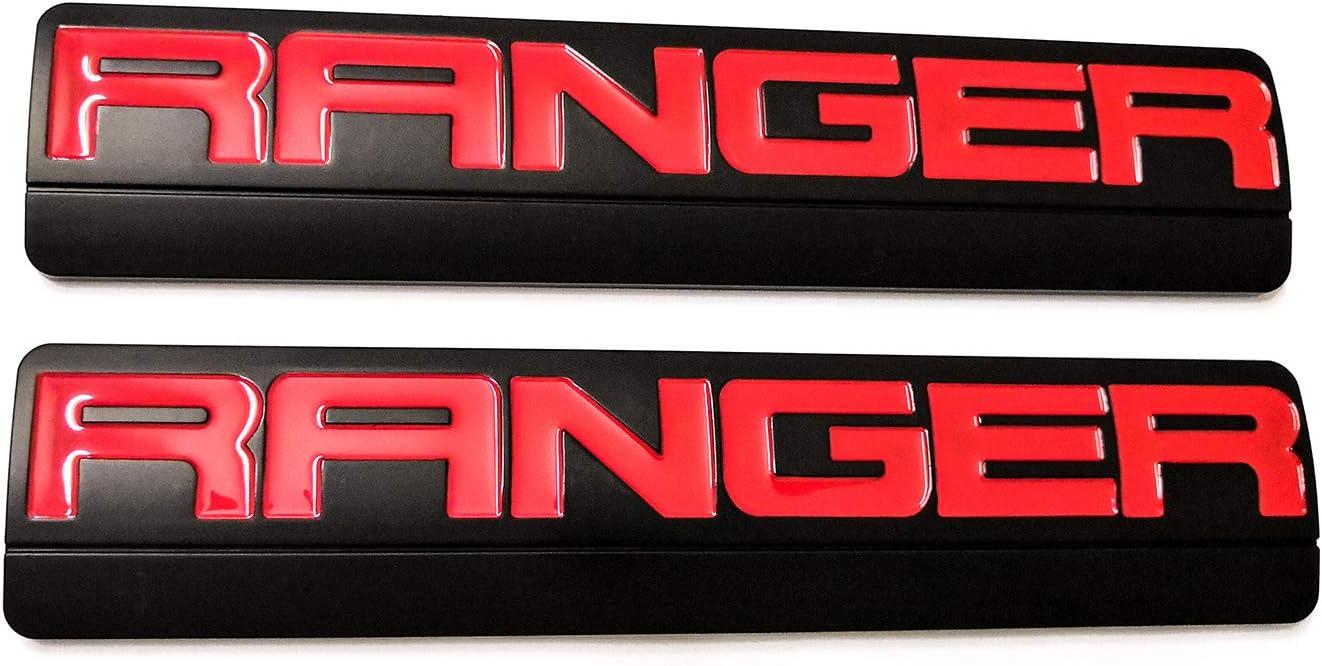 2x OEM Black RANGER Badge Emblems 3D logo Fender for F150 F250 2006-2011 Red